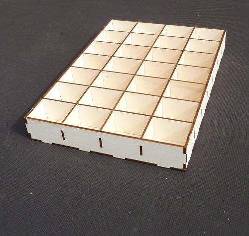 Překližková krabička s přihrádkami