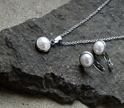 Souprava-perlová, nerezová