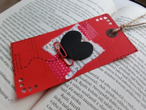 Záložka do knihy - Posílám ti Valentýnku!