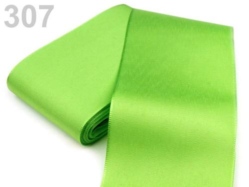 Taftová stuha 72mm (10m) - zelená limetková