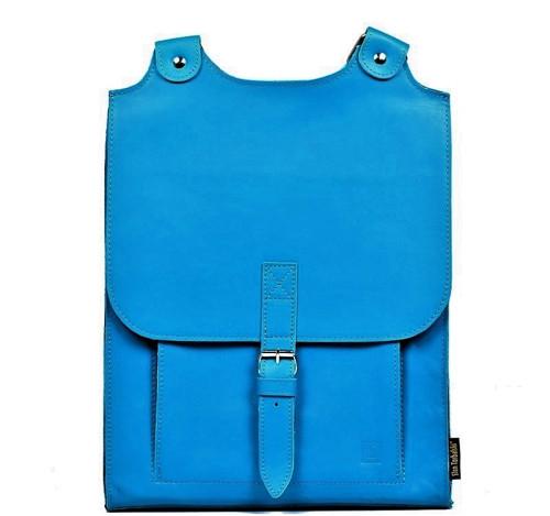 Kožený batoh světlemodrý