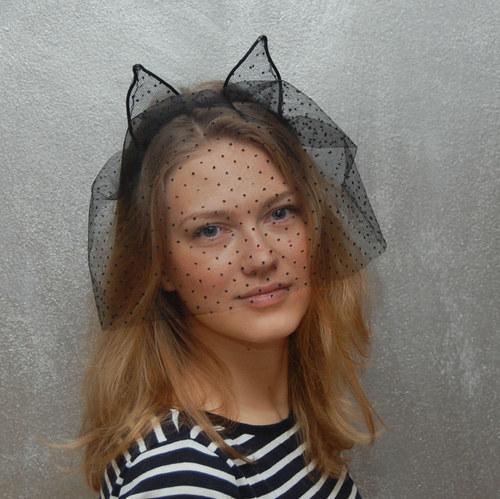 Catwoman in Paris ... čelenka s závojem Sleva