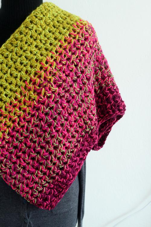 Melír...khaki, růžová, cyklámen