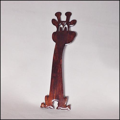 Žirafka, dřevěná záložka - palisandr