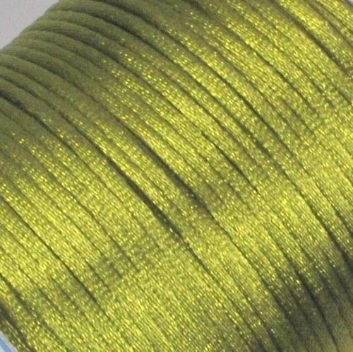 Saténová šňůrka 2 mm / mechově zelená