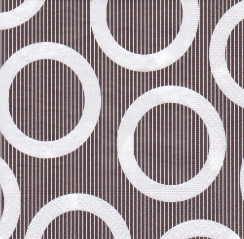Ubrousek - černobílá kolečka