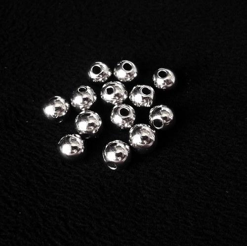 Kuličky stříbrné (10 ks)