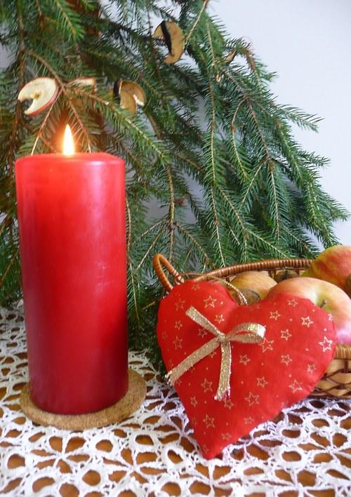 Srdíčko Vánoční červené