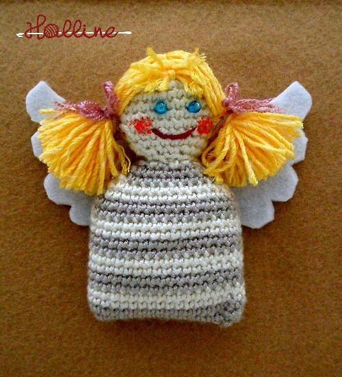 Návod: Háčkovaný andělíček pytlíček