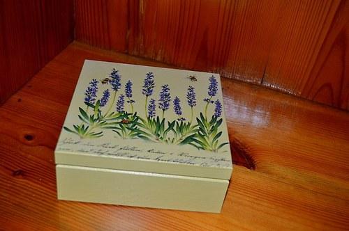 Krabička, šperkovnice - levandule