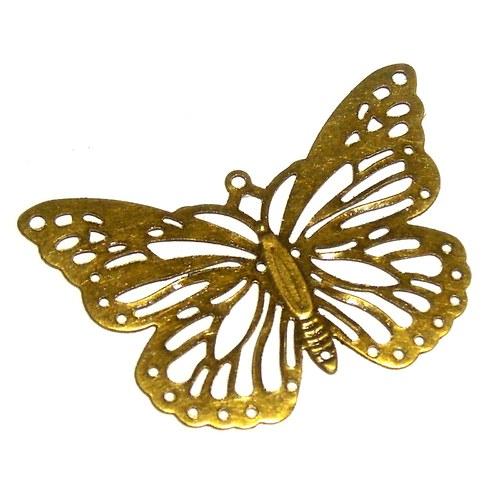 Filigrán motýl starobronz