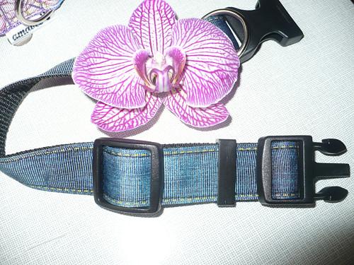 OBOJEK DENIM, džínový,   šíře 2,5 cm