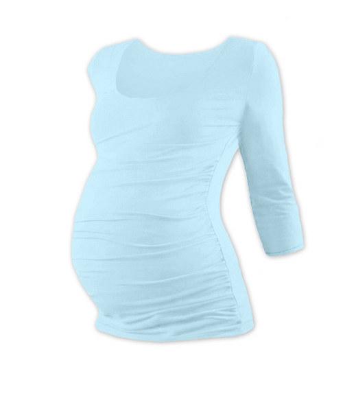 Těhotenské tričko 3/4 rukáv světle modré