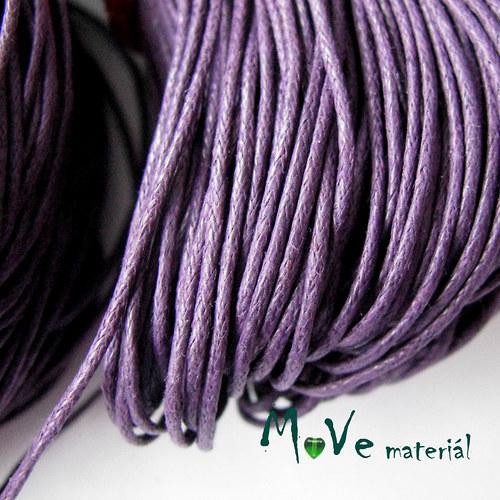 Šňůra voskovaná bavlněná Ø1mm, 3m, fialová I