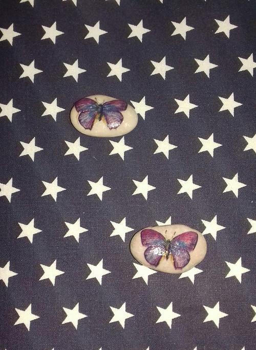 Oblázek s motýlkem
