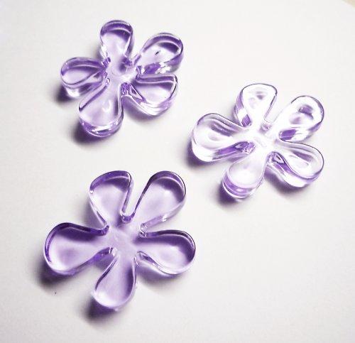 Plastové tyrkysové květinky střední (3 ks)