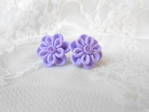 Květinky pastel fialové