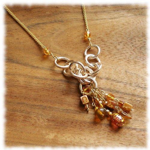 zlato, med, skořice .... náhrdelník , VÝPRODEJ!