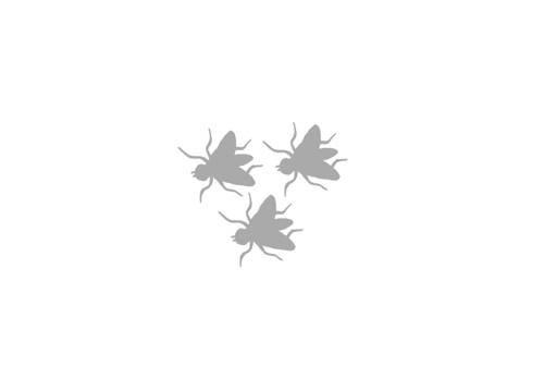 Nažehlovačka - reflexní mouchy