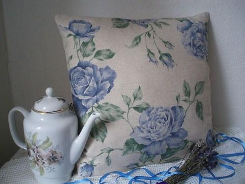 Povlak na polštář - růže-SLEVA