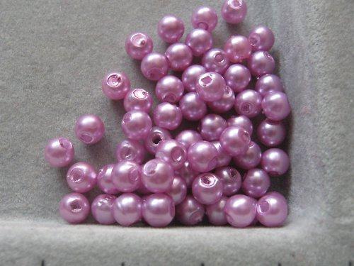 Voskové korálky - světle fialová  5 mm / 30 ks