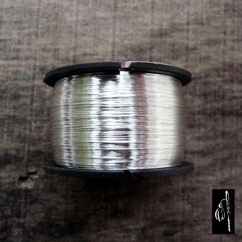 Postříbřený drát 1,0, cívka 7 m