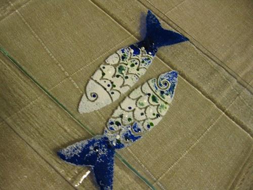tác ryby-zelená, modrá