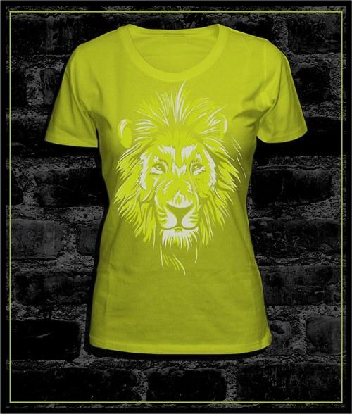 Dámské tričko I´m the king - zelenožluté
