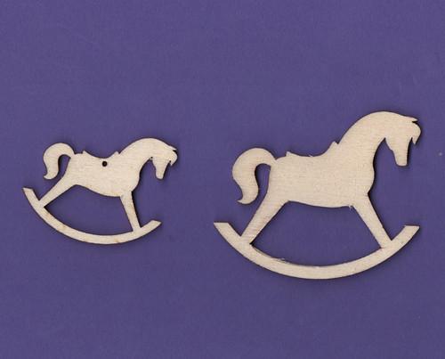 Dřevěné výřezy - dekorace, houpací kůň