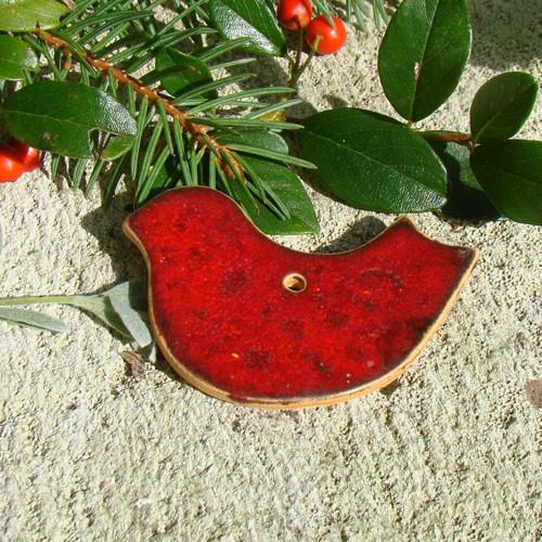 keramické ozdoby - ptáček