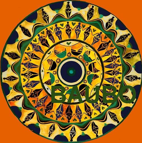 Mandala ženský kruh - samolepka