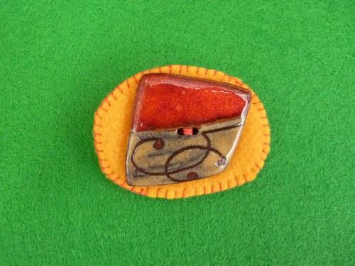 Knoflíková  brož - kdyby šel kolem kominík