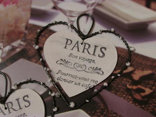 Drátěné srdíčko k zavěšení PARIS