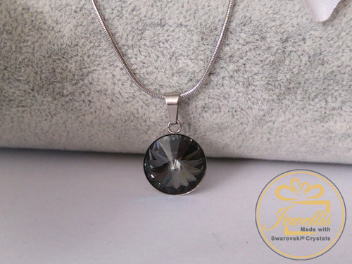 Ocelový náhrdelník Swarovski- Crystal Silver Night