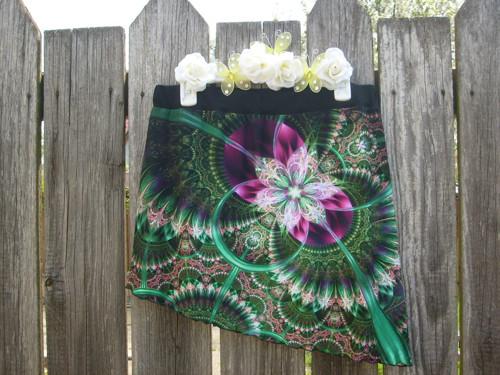 Boková minisukně - Vesmírný květ v.42-44