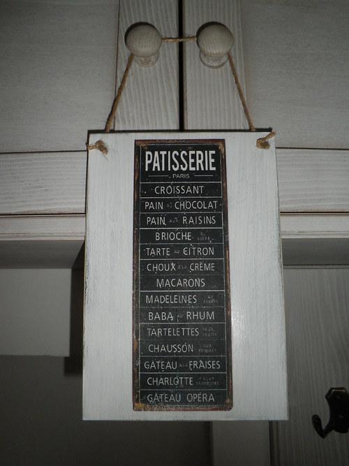 "Vintage cedulka na dveře \""Patisserie\"""