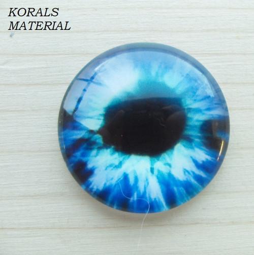 2937/K Kabošon Oko modré 25 mm