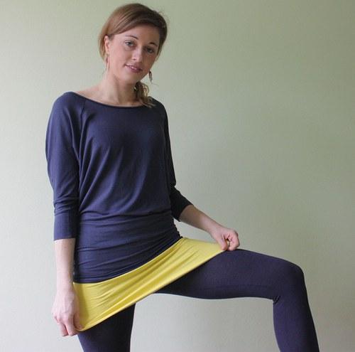 Oboustranný ledvinový pás žlutá - světle šedá