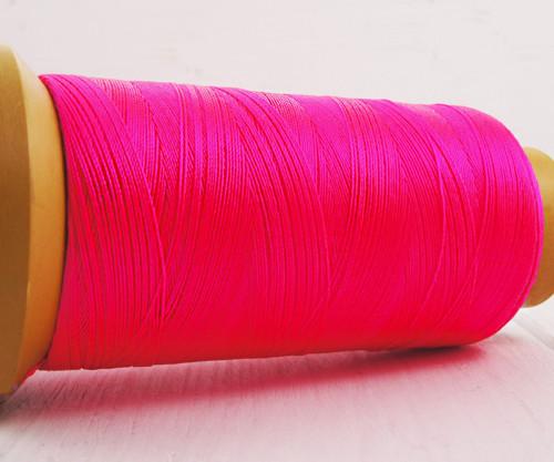 750m 820yrd Fuchsia Růžová Nylon, 3-Příze Lištován