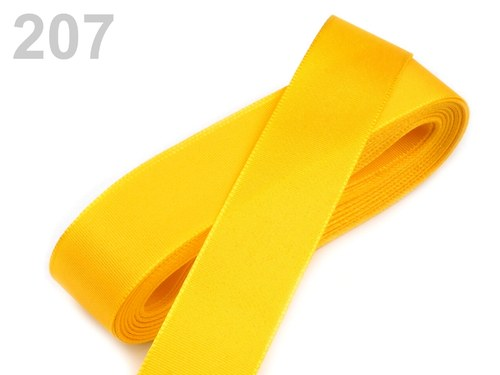 10 m taftové stuhy, barva tmavě žlutá