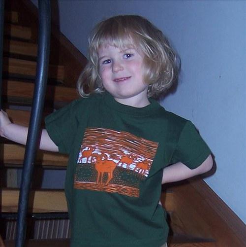 Dětské tričko s muflony - zelené