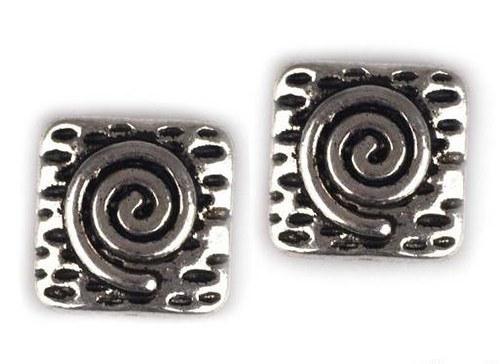 Korálek kovový 10x10mm čtverec