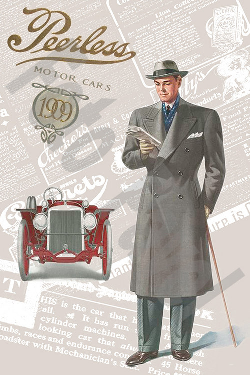 Vintage motiv - gentleman a auto