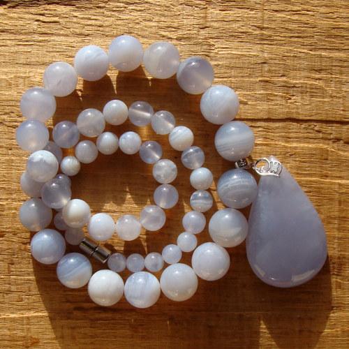 Chalcedonový náhrdelník