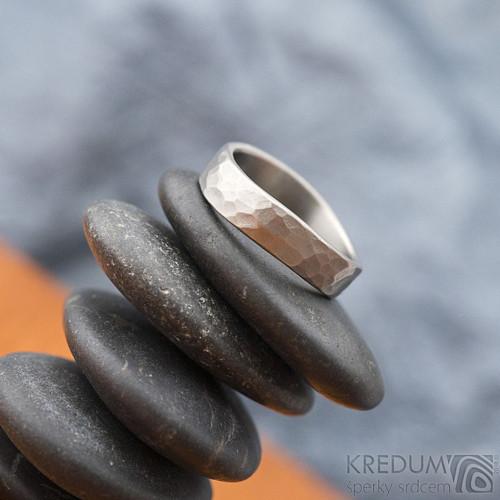Forever draill titan - Titanový snubní prsten