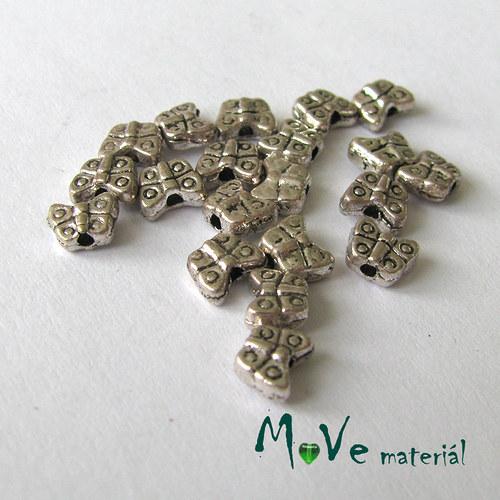 Korálek kovový 5x4mm motýlek, 20ks
