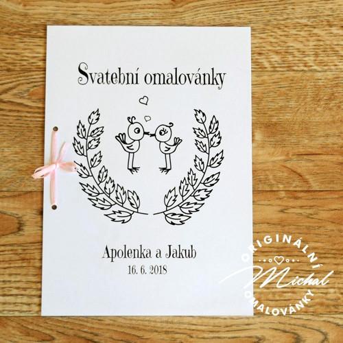 Svatební omalovánky - TYP 08