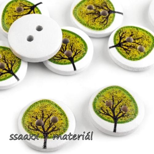 Dřevěný knoflík ~ 15 mm ~ 2 ks ~ zelený