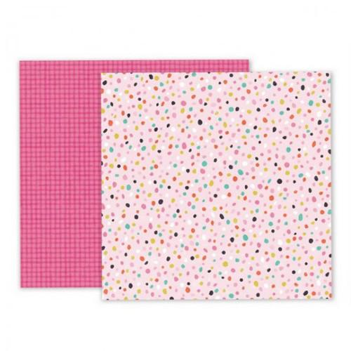 Scrapbook.papír Pink Paislee/Oh My Heart/Paper 19