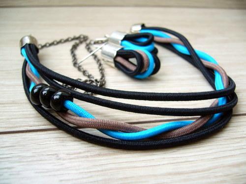 smotaná modrá - náhrdelník